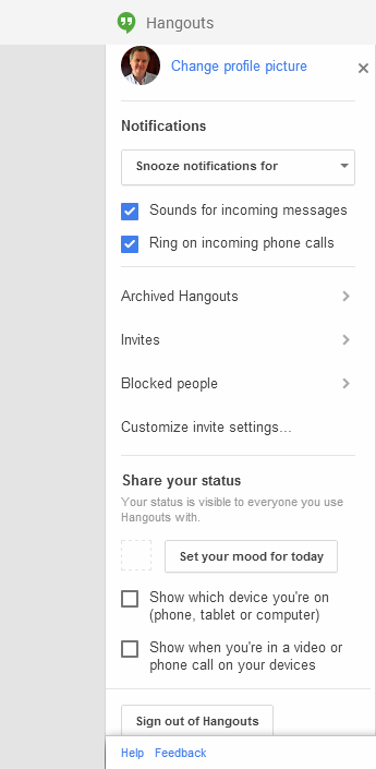 how to turn off hangouts