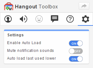 Suggested Hangout Toolbox Settings