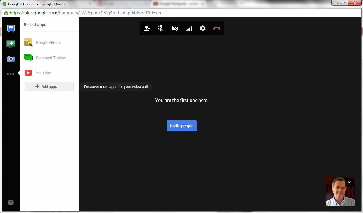 Send Google Hangout Invite was good invitation design