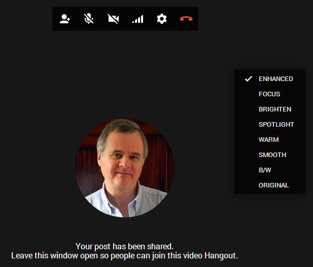 Hangout Video Call Enhanced features