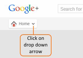 Google+ Home Main Menu