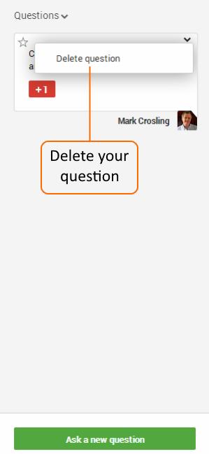 Delete your question