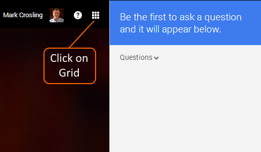 Click on Grid to open Q&A app icon