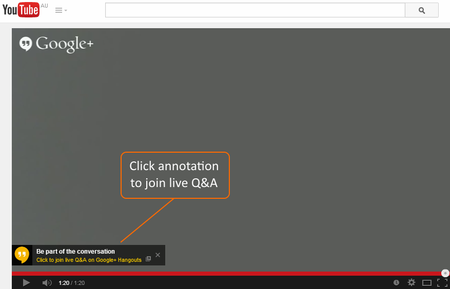 one click annotation on YouTube Video