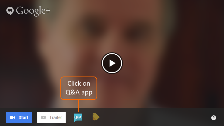 click on Q&A app to enable it