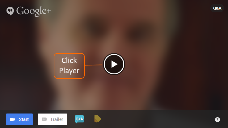 Click on arrow Player button