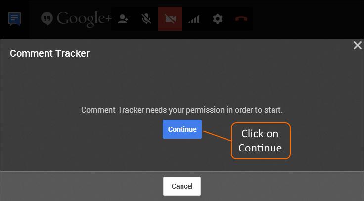 Authorize Comment Tracker