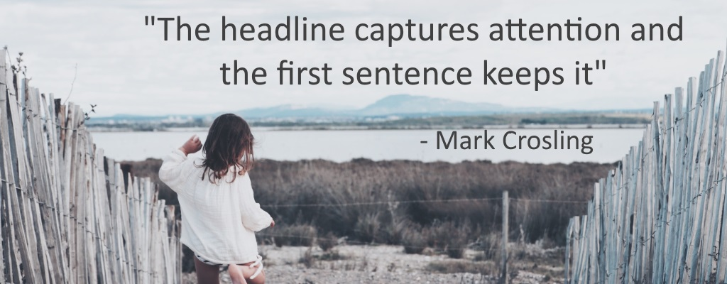 How to Craft the First Sentence of your Article
