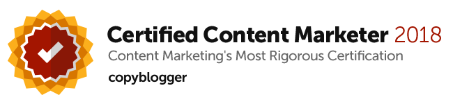 Mark Crosling Copyblogger Certified Content Marketer 2018