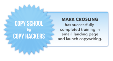 Mark Crosling Copy Hackers Copy School Certification