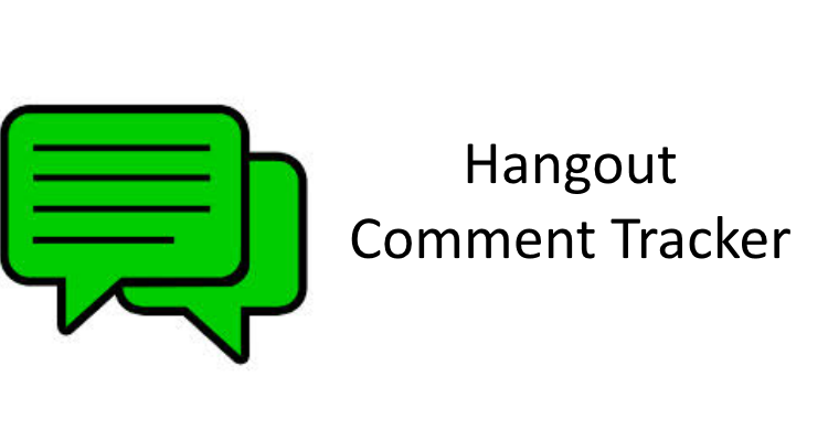 How to Setup the Hangout Comment Tracker