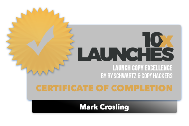Mark Crosling - 10x Launches Certification