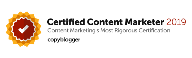 Mark Crosling Copyblogger Certified Content Marketer 2019